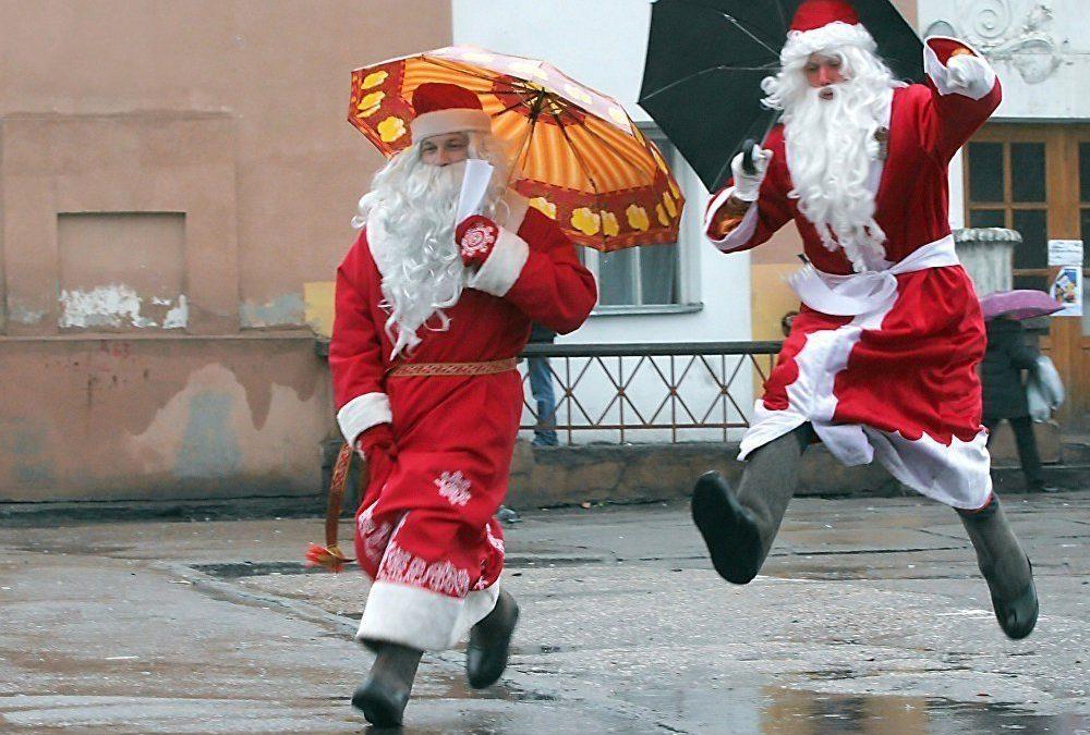 Прикольные картинки «Пьяный Дед Мороз»