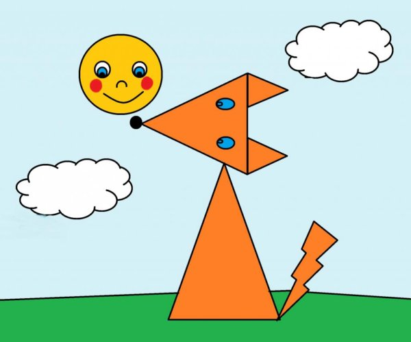 Рисунок из геометрических фигур (25 фото)