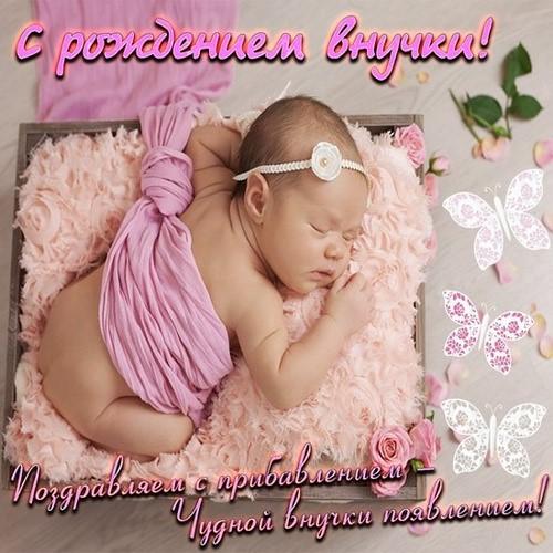 Красивые картинки «Поздравляем с рождением внучки»